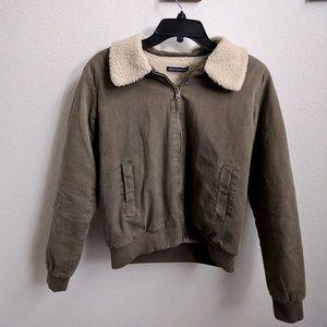 Brandy Melville Green Bomber Jacket